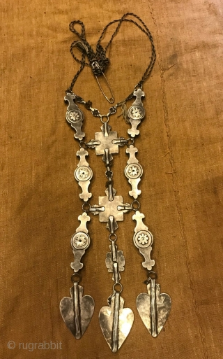 Turkmen silver, vintage jewelry pendant, turkoman necklaces, handcrafted jewelry, ethnic tribal silver, antique silver