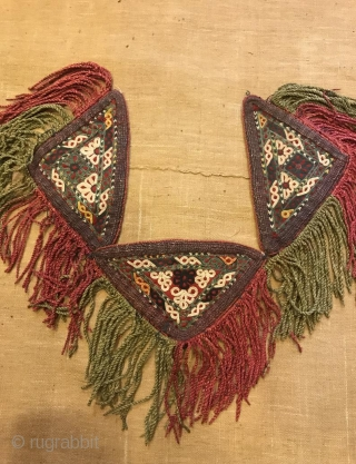 Vintage turkmen Kuchi handmade ethnic tribal traditional amulets talisman accessories    Size: Height : 16 cm  Length: 50 cm   FAST WORLDWIDE SHIPPING almost within 3 to 5 working days ...