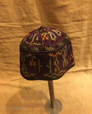 Collectible hat, rare unique hat ,old vintage hat ,embroidery hat, 