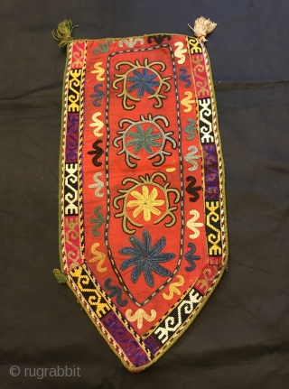 Uzbek nomads lakai embroidered textiles, antique ornaments accessories, silk embroidered hanging wall textiles