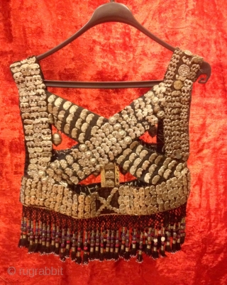 Vintage unique silver armor clothing, Ethnic tribal handmade clothes  Size: 45 cm x 45 cm  Fast shipping all over the world,!  Thanks visiting for my shop :)
