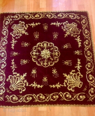 Antique turkish ottoman table cover