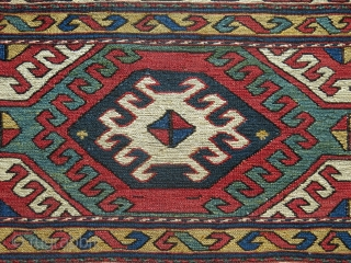 """Shahsavan bedding bag side panel. Great condition with natural colors. Circa late 19th century.  Size: 107 x 49 cm (42"""" x 19"""")."""