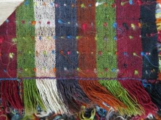 "Kurdish tulu - filikli rug with angora wool.   Length: 165 cm x width: 132 cm (65"" x 52"")."