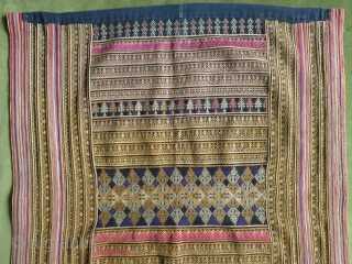 """A panel from an ethnic Chinese Miao minority jacket. Circa 1920-30. Size: 48 cm x 60 cm (19"""" x 24"""")."""