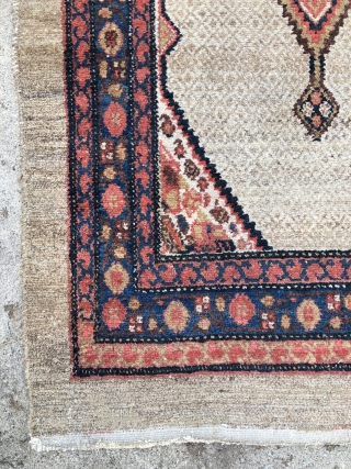 Northwest Persian Hamadan/Malayer Kurdish Runner Rug - 3'6 x 13'6 / 110 x 415 cm.