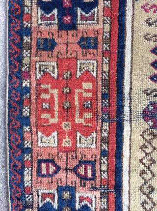 Funky Antique Southeast Anatolian Prayer rug, circa 1875 - 3'4 x 4'11 -102 x 150 cm.