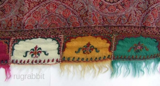 A woolen Shawl from Northern India or Kashmir 180x190cm Around 1860-1880 Perfect condition SOLD  Please visit my website  www.m-beste.de  for more items