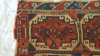 Antique turkish rug fragment or bag fragment Price does not include shipping 80x70 cm