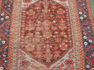 Antique Kula rug approx 5ft3 x 4ft9 19th century some wear as you can see sides not original, but a genuine old thing fresh to the market.price does not include shipping but  ...