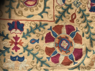 Suzani embroidery , 19TH century .