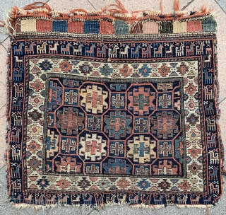 Very Charming Shahsevan bag face ! great old pattern and Border . 