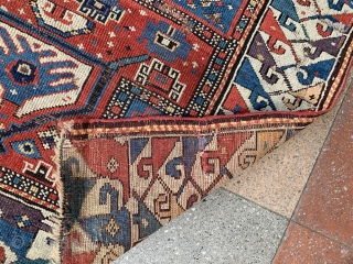 Beautiful colors , older example and unusual caucasian Prayer rug in condition as you see , size : 118x90cm , Price : if you 1200 euros and good taste , just buy  ...