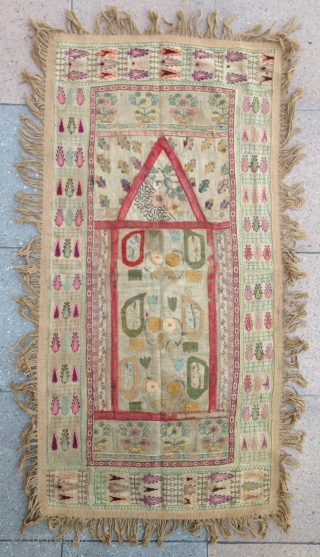 Summer sale : Small Prayer 'Ottoman period' Grec embroidery .