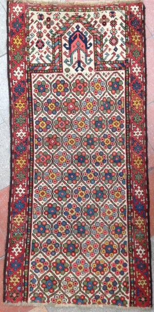 September sale : An Akstafa ( ? ) Prayer white field frag ! Nice !  Size : 157x77cm Circa : 19th
