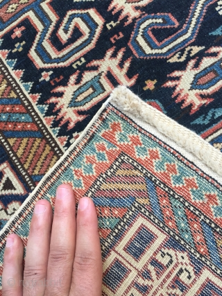Shirvan perepedil size:130x93 cm circa 1900  excellent condition both ends are new repaired very well  very fine knots
