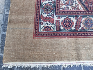 Sarab dated in three places 1315 Hijri camel hair  good condition size 380x210 cm