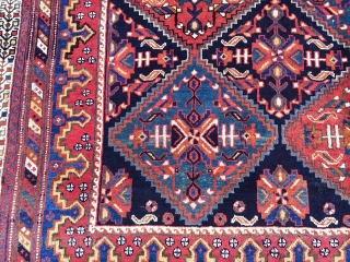 Afshar wool foundation in very good condition circa 1890  rare size 175x160 cm