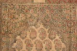 An early 19th century Persian silk Kalamkari. 3-1 x 4-4 ft.