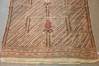 An antique Anatolian (Kecimuhsine) Prayer Kilim. Mid 19th Century. Great condition.  3-11 x 4-10 ft.