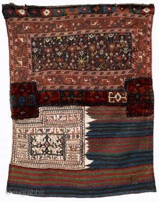 # 4530 Fine Sumac Bakhtiari Bag, with fantastic colors, Southwest Persia, Last Quarter 19th, C. Size 2-6 x 3-7 ft