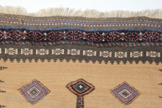 Great seeing everyone at ARTS! Here is a beautiful Shahsavan of Veramin mixed technique sofreh from the last quarter of the 19th century. On camel hair background with beautiful colors. Measures out  ...