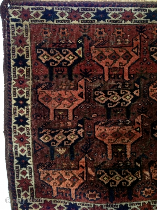 An archaic Baluch bird bag face (Timuri?) Northeast Persia, circa 1900. 2-2 x 2-3 ft.