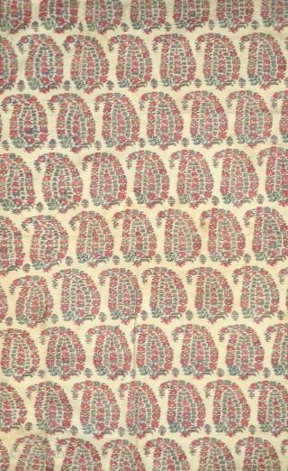 Antique Indian woven Kashmir shawl fragment.
