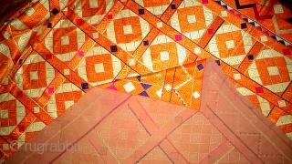 Vintage phulkari from punjab, India. Rare design pattern (DSC01720)