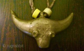 Naga tribal vintage brass neck piece. Early 19c.