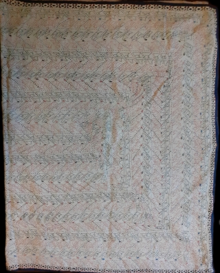 Antique kantha from west Bengal, very Rare