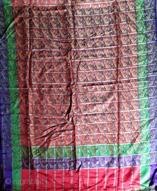 Antique brocade saree. 19c