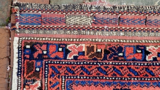 Persian-- 3.9 x 5.8. Possibly Afshar. Condition: Very Good. Please see all photos. us Shipping: $10 please call the shop for concise in-hand condition reports— 314.222.1110