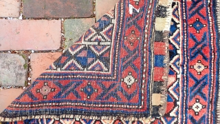 Large Kurd Bag Face-- 29 x 27. Interesting composition with small botehs in the center. Plush Kurdish wool and lovely soft colors. CONDITION: Very good.  Please see all photos. US Shipping: $15  ...