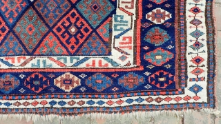 ENORMOUS FINE JAFF FACE-- 37 x 51--  Most sumptuous Kurd bag face. Exceptional quality wool w/ beautiful saturated natural dyes. Exceptional condition indicates it was revered and well cared for. CONDITION: Plush  ...