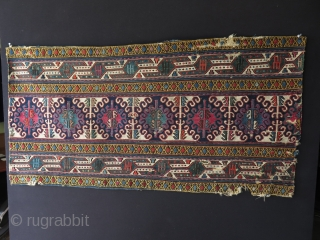 Shahsevan mafrash panel. Size: 1.08 ft x 3.04 ft – 58 cm x 130 cm.