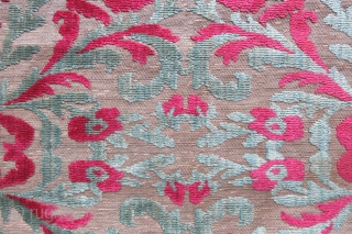 "Ottoman Chatma Pano velvet . It is one side of a two panels, blossoming pomagranates  Mid 18th cent. In perfect condition. Size: 58"" X 25"" - 148 cm X 64 cm"