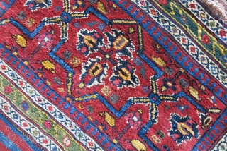 Afshar bedding bag - missing end panels. Saturated natural dyes and overall good pile and condition. A few small spot has repaired with old wool. Circa secodn half of 19th cent.Size :  ...