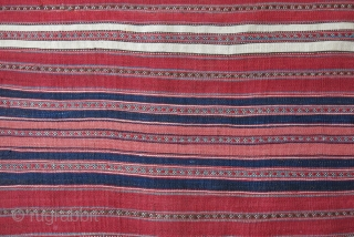 "Northeast Persia, Mazendaran Antique small double side Kilim, natural colors with great size and condition. Circa 1900 or earlier - Size : 45"" X 27"" - 115 cm X 69 cm"