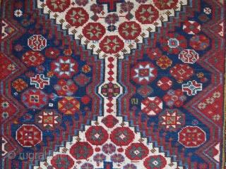 "South Persian Qashkai Small rug. No repairs. Circa late 19th. size : 6' 1"" x 3' - 185 cm x 103 cm"