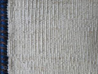 "Qashkai minimalist sofreh, All natuiral ivory wool. Circa: 1920s - Size: 68"" X 38: - 173 cm X 97 cm"