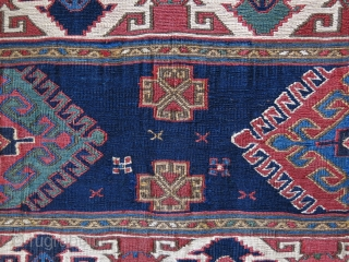 "Shahsavan bedding bag panel fine sumak Weave with great colors. Circa second half of 19th cent. Size : 26"" X 18"" - 67 cm X 46 cm"