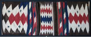 "Caucasian Zagatala area saddle bag, all wool natural colors. Circa 1900-1920s size : 41"" X 16"" - 104 cm x 41 cm"