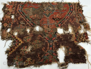Anatolian Konya rug fragment. Circa early 19th. century.