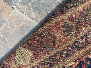 Old Kurdish Rug.All naturel colors.Some old repairs.126x276cm