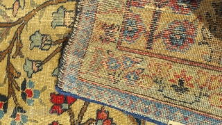 Antique persian fabulous rug.size 318×223 cm.need little bit repairing.email for more info and pictures.Nabizadah_carpets@yahoo.com