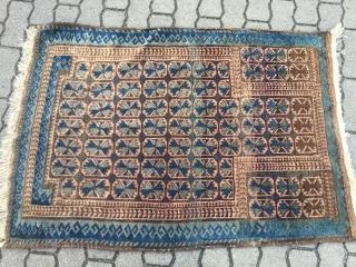 Antique Baluch prayer rug . Origin : North-West Afghanistan . Size : ca. 130cm x 90cm ( 4'2''ft x 2'9''ft ) Nice collector´s piece.