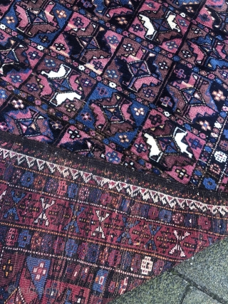 Antique Turkmen inspired Kordi rug with Aina gul design, good condition. Size: 265x180cm / 8'7''ft x 6ft. Origin: Khorassan province, North-East Persia