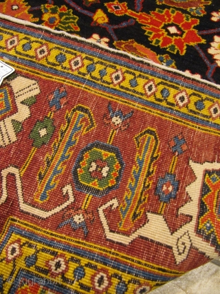 Antique Caucasian Shirvan rug with a very well drawn Herati design. Good condition, size: ca. 225x150cm / 7'3''ft x 5ft , age: circa 1910, www.najib.de