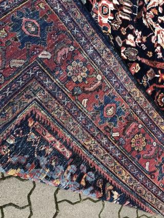 Large Antique Persian Mahal carpet in good condition, size: 505x305cm / 16'6''ft x 10'1ft  www.najib.de